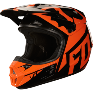 CASCO FOX V1 V1 RACE NEGRO/NARANJA