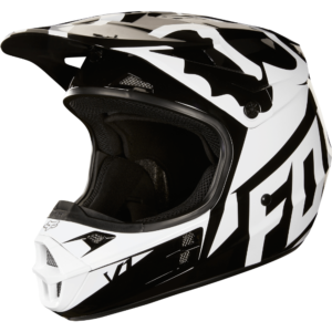 CASCO FOX V1 FAST RACE NEGRO/BCO